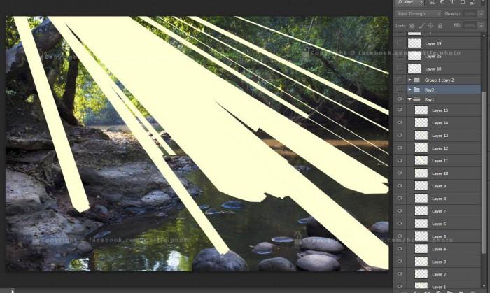 ray light photoshop 4