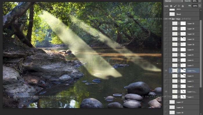 ray light photoshop 7