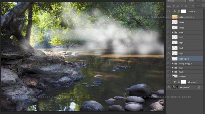Ray light photoshop 10